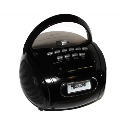 MP3 плеер Colon RX-186, Black, 2x3 Вт, LCD экран, FM, USB, SD, Mic, 4x'D' / 220V