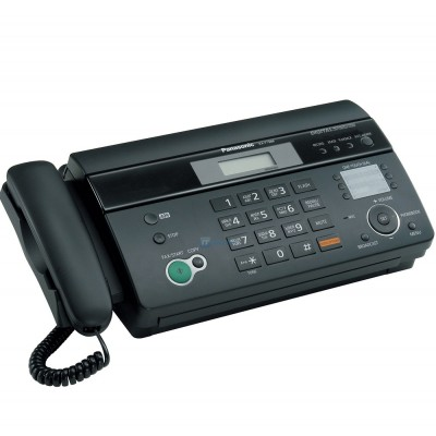 Факсимильный аппарат Panasonic KX-FT982UA-B (Черный) термобумага, АОН,Caller ID, прием при отсутствии бумаги, функция копирования, дисплей (2 строки, 16 символов), память на 100 номеров