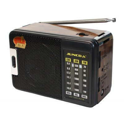 MP3 плеер Juncda JC-302AR, Black-Wooden, 3 Вт, FM, 2x'D'/220V