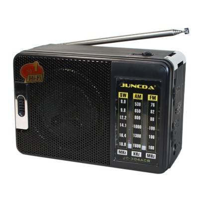 MP3 плеер Juncda JC-302AR, Black, 3 Вт, FM, 2x'D'/220V