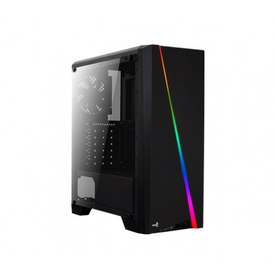 Корпус Aerocool 'PGS-V' Cylon Tempered Glass, Black, Mid Tower, без БП, 0,5 мм, для ATX / Micro ATX / Mini ITX, ATX PSU, 198 x 459 x 413 мм, 5,4 кг (1x120 мм Fan в комплекте)