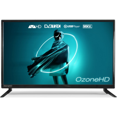 Телевизор 24' OzoneHD 24HQ92T2, LED HD 1366x768 100Hz, DVB-T2, HDMI, USB, Vesa (100x100)