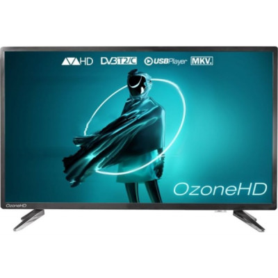 Телевизор 32' OzoneHD 32HN82T2, LED HD 1366x768 60Hz, DVB-T2, HDMI, USB, Vesa (200x100)