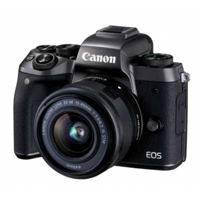 Зеркальный фотоаппарат Canon EOS M5 + 15-45 IS STM Kit Black + EOS M adapter