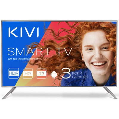Телевизор 32' Kivi 32HR55GU LED HD 1366x768 200Hz, Smart TV, DVB-T2, HDMI, USB, Vesa (200x100)