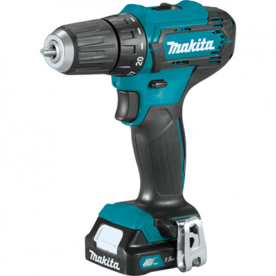 Шуруповерт Makita DF333DWYE, Blue/Black, 10.8В / 1.5Ah, 1700 об./мин, Li-Ion, 30/14 Нм, сталь - 10 мм / дерево - 21 мм, 1,1 кг