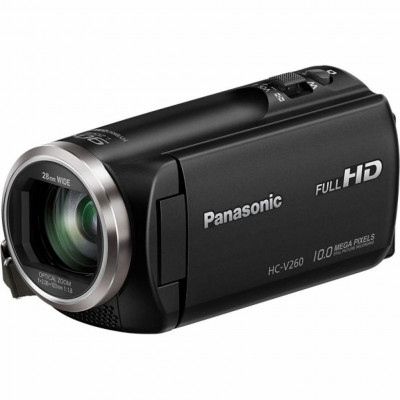 Видеокамера Panasonic HC-V260 Black, 2.51 Мп Carl Zeiss Tessar, Flash память (HC-V260EE-K)