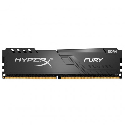 Память 16Gb DDR4, 2400 MHz, Kingston HyperX Fury, Black, 15-15-15, 1.2V, с радиатором (HX424C15FB3/16)