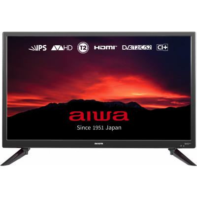 Телевизор 24' Aiwa JH24BT300S, LED HD 1366x768 60Hz, DVB-T2, HDMI, USB, VESA (100x100)