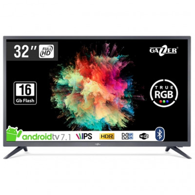 Телевизор 32' Gazer TV32-FS2G LED Full HD 1920x1080 60Hz, Smart TV, HDMI, USB, Vesa (200x100)