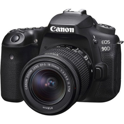 Зеркальный фотоаппарат Canon EOS 90D EF-S 18-55mm IS STM Kit Black (3616C030)