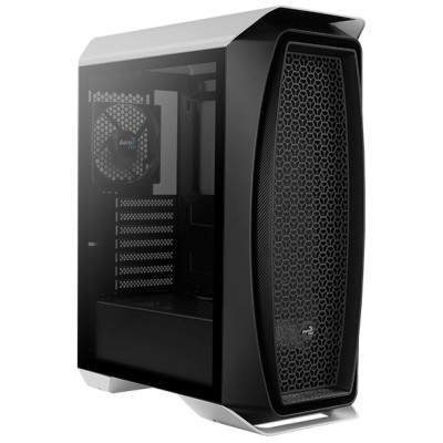 Корпус Aerocool Aero One Tempered Glass White, Middle Tower, без БП, 0,5 мм, для ATX / micro ATX / mini-ITX, 2 x USB3.0 + HD Audio   Mic, 520 х 210 х 404mm, 5.5кг (1x120 мм Fan в комплекте) (One-G-WT-v1)