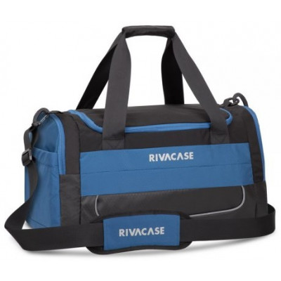 Дорожная сумка RivaCase 5235, Black/Blue, 30 л, нейлон, 480x280x260 мм